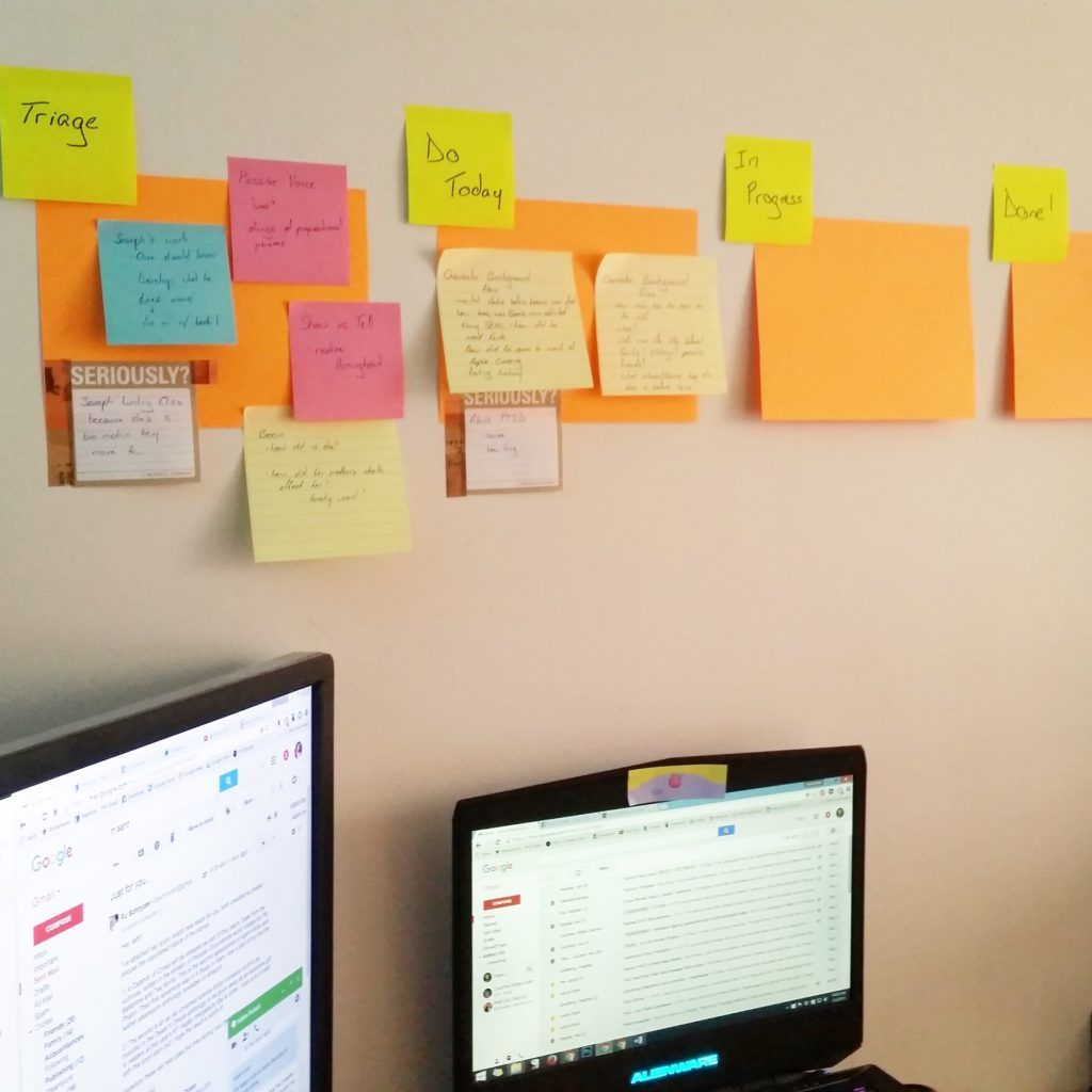 Post It Notes and Kanban